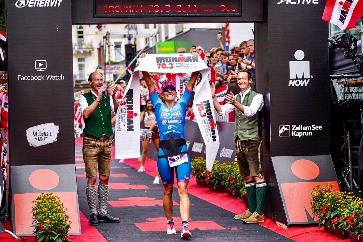 Daniela Bleymehl gewinnt Ironman 70.3 Zell am See